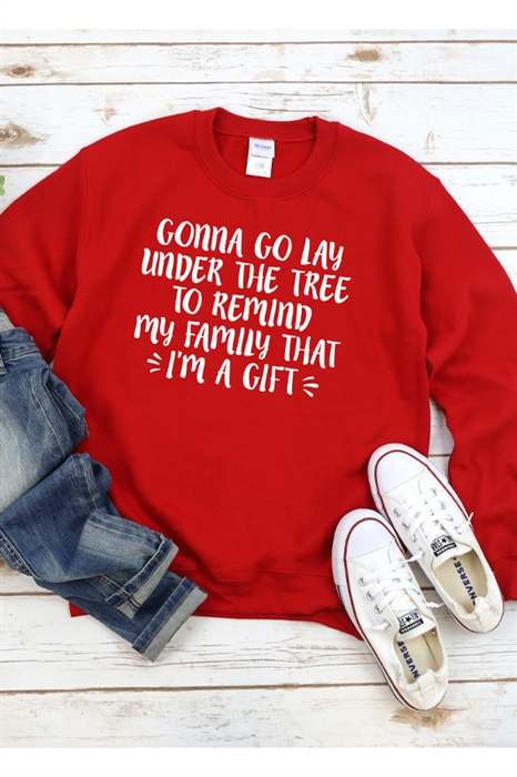 Picture of Gonna Go Lay Under The Tree Graphic Sweatshirt