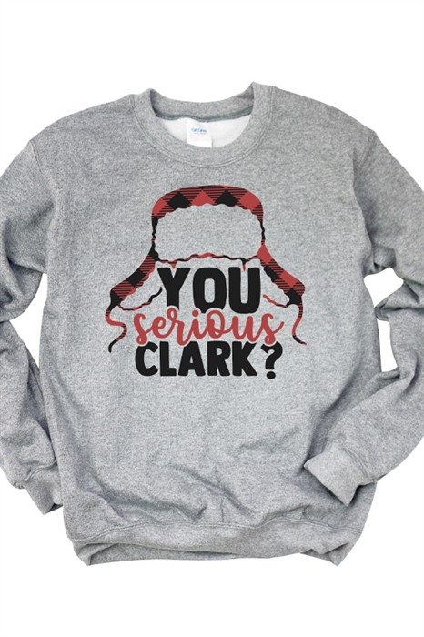 Picture of You Serious Clark? Graphic Sweatshirt